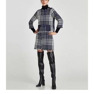 Zara boots heel 7009/201/040 long high black nwt